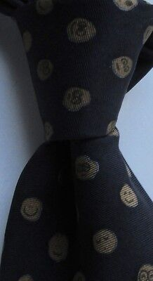 Ted Baker classy dark gray all Silk Tie Tailored in USA from Imported Fabric