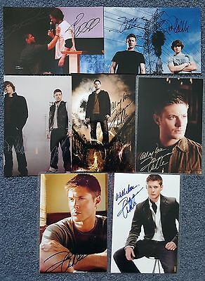 "Supernatural Dean, Sam    7 Preprinted Signature's 4 X 6"" Photo's Laminated"