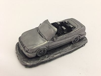 Saab 9.3 Convertible ref228 Pewter Effect 1:92 Model Scale car