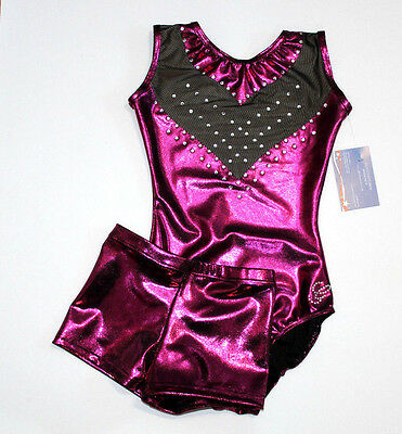 MESH LEOTARD AND SHORTS made by GLITZ Leotards