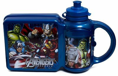 Avengers Lunch box and Bottle Combo Set - New Christmas Gift Stocking Filler