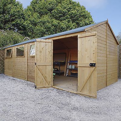 20 x 10 Reverse Apex Shiplap Tongue and Groove Workshop