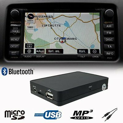 Car Bluetooth USB SD AUX MP3 Player Adapter TOYOTA Camry Previa RAV4 Prius Yaris