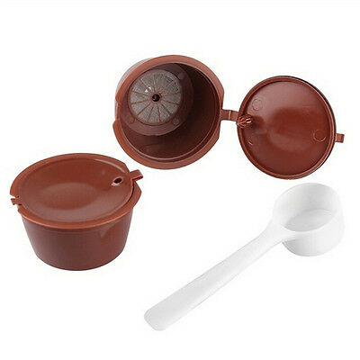 2X Refillable Reusable Coffee Capsule Pod Cup for Nescafe Dolce Gusto Machine re