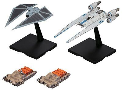 Bandai STAR WARS New 1/144 U-WING FIGHTER & TIE STRIKER Rogue One from Japan