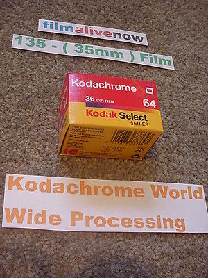 Kodachrome Lives, & Processed all over the World,135 ( 35mm ) Still Camera Film