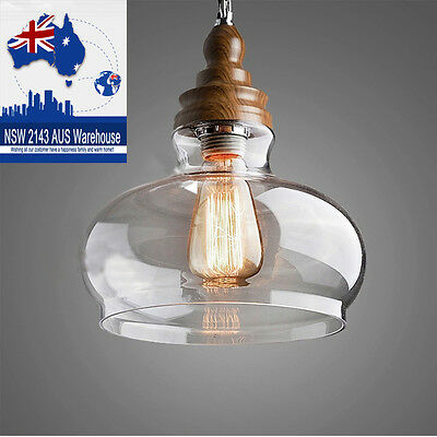 Vintage Chandeliers Glass Ceiling Light Shade Kitchen LED Pendant light Fittings