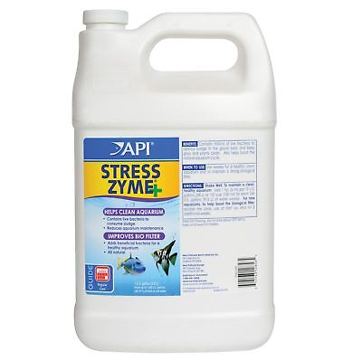 API Stress Zyme 3.8L Biological Filter Developer Cleans Aquarium Fish Tank