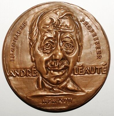 MEDAILLES - Medaille Andre Leaute signee Mason bronze (8680 M)