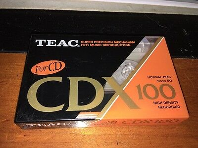 TEAC CDX 100 Blank Cassette Tape New Sealed