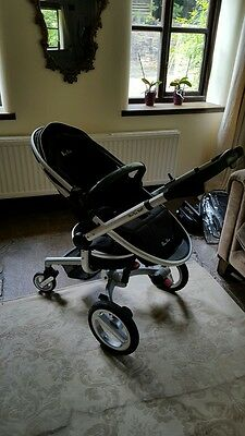 Silver Cross Surf Pram Travel System Stroller Ventura Car seat Isofix base