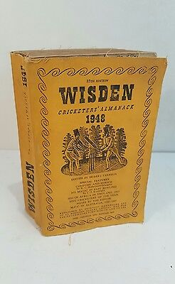 1948 Wisden Cricketers' Almanack - Softcover Edition - Limp Cloth Cover Yearbook