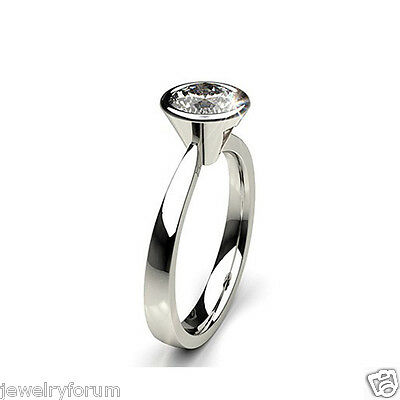 Solid 925 Sterling Silver 2 Ct Diamond Engagement Rings Anniversary Diamond Ring