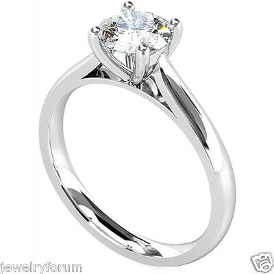 Solid 925 Sterling Silver 2 Ct Diamond Engagement Rings Solitaire Diamond Ring