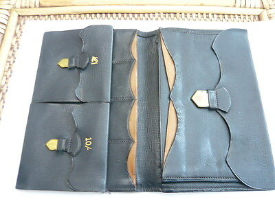 Stunning Quality Vintage Old 1940,s 1950,s Large Size Calf Leather Jacket Wallet