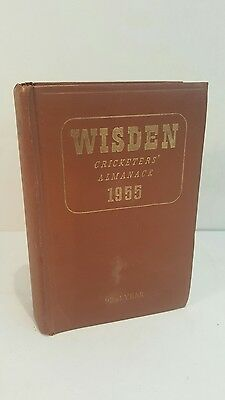 1955 Wisden Cricketers Almanack 92nd Edition Hard back Brown Boards vgc