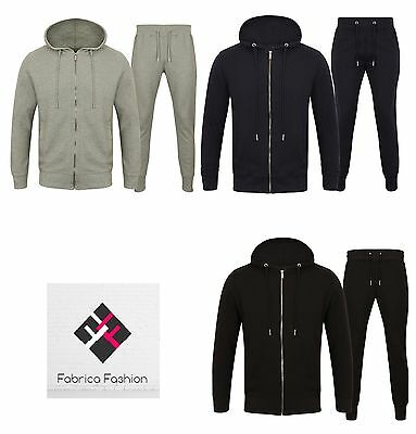 Mens Slim Fit waffle fabric Tracksuit Hoodie Top and Bottoms Joggers