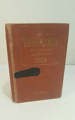 1950 Wisden Cricketers Almanack 87th Edition Hard back Brown Boards