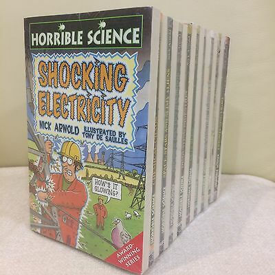 Horrible Science - Set Of 19 Books Collection by Nick Arnold Paperback Brand New