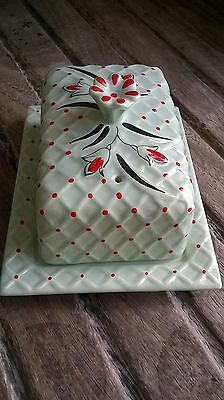 Wade Hand Painted Made in England Butter Dish