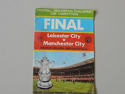 1969 F.A.Cup Final Programme Leicester City v Manchester City