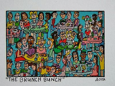 James Rizzi The Brunch Bunch - Farblithografie