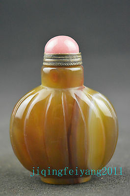 Chinese vintage collectable old  jade handwork carving exquisite snuff bottle