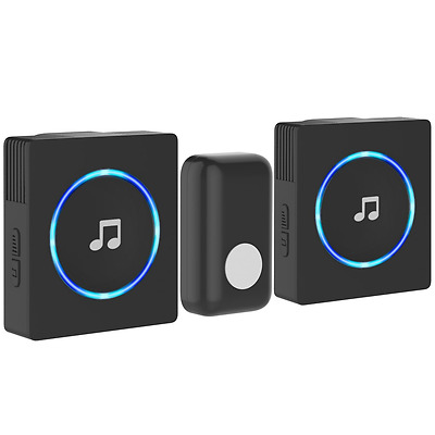 Wireless Door Bell Plug In Chime Twin Loud Long Range Front Cordless Home Office