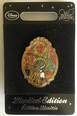 Authentic Origiinal Disney Store Limited Edition Beauty And The Beast Pin Badge