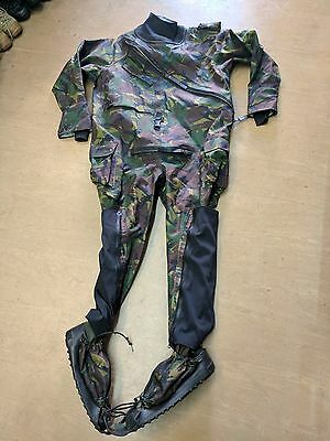 *RARE* British Army Issue Woodland DPM Waterproof Immersion Suit Size 190/112 UK