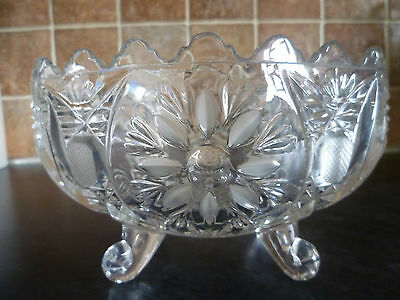 A Lovely Annahutte Lead Crystal Footed Dish/bowl, Made For The House Of Walton.