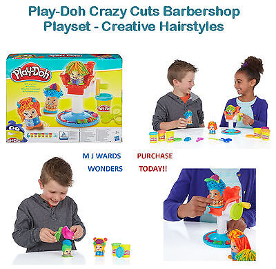 Play-Doh Crazy Cuts Barbershop Playset - Creative Hairstyles