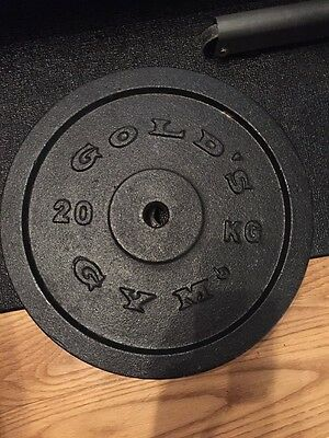 Golds Gym 20kg Cast Iron Weight Plates