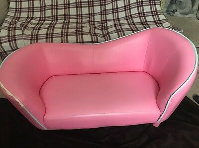 Children Kids Chaise Longue Lounge Sofa Day Bed Bedroom Couch Seat Chair Pink