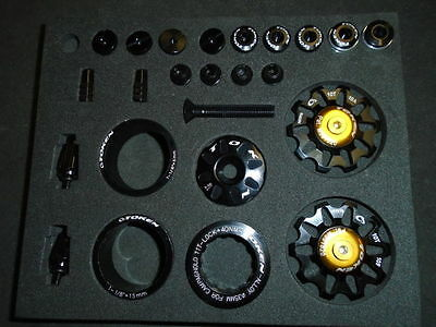 Token Bling Kit, Black, Nice And Light Campagnolo Hardware For Bikes, New