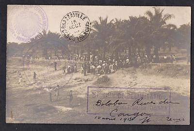 Old postcard delimitation between Cameroon and Congo year 1913