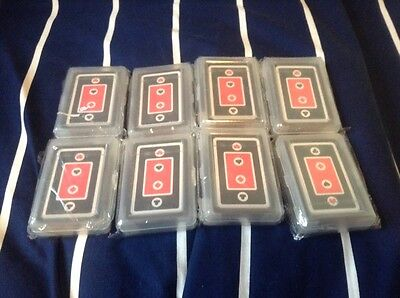 Reduced 8 packs playing cards with hearts on suit wedding NEW