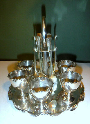 Electroplated Antique 6-Egg Cup Cruet/Stand for Replating - Liverpool Maker