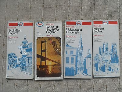 Four ESSO maps from the 1970's.