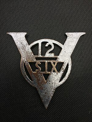 Vintage V12 Six Car Badge