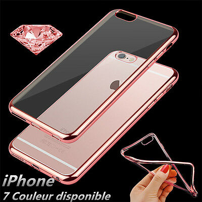 COQUE Etui HOUSSE POUR IPHONE 7/6/6s/5/SE/8/X SILICONE DESIGN CONTOUR BRILLANT