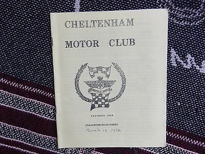 1972 Staverton Airfield Programme 19/3/72 - Road Races