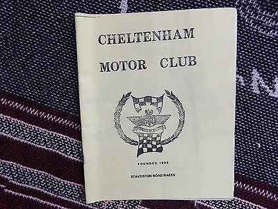 1973 STAVERTON AIRFIELD PROGRAMME - ROAD RACES - 1st meeting (undated)