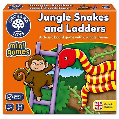 Orchard Toys Jungle Snakes and Ladders Mini Game - NEW