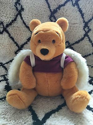 """Vintage Disney Store Winnie The Pooh With Angel Wings 13"""" Plush Toy"""