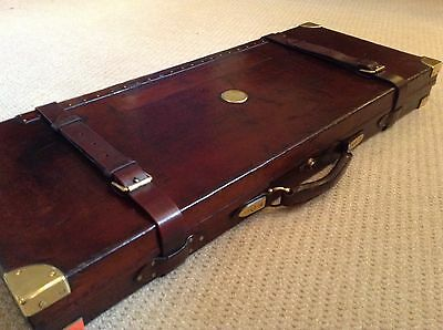 Superb Antique Leather Double Gun Case By Henry Atkin ( From Purdey's)
