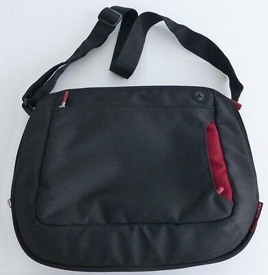 "Belkin Messenger Bag for Laptops Netbooks up to 12.1"" (Jet/Cabernet) IMMACULATE"