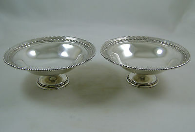 Pair Of Solid Silver Pedestal Bowls or Bonbon Dishes HM 1937 James Dixon
