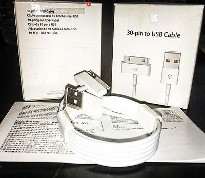Original Cable Charge Usb 30 Pin Iphone 3Gs/4/4S Ipad 1 2 Apple