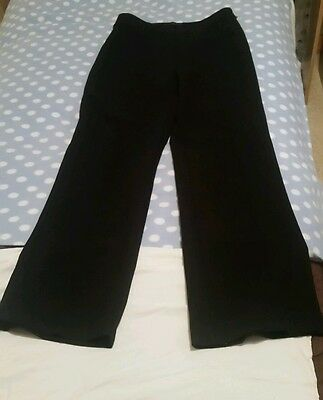 black trousers size 12